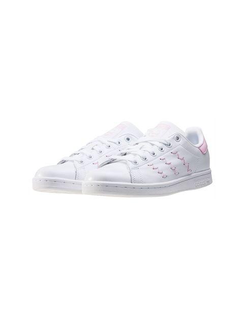 کفش راحتی زنانه آدیداس مدل BZ0401 - سفيد و صورتي - 6