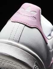 کفش راحتی زنانه آدیداس مدل BZ0401 - سفيد و صورتي - 8
