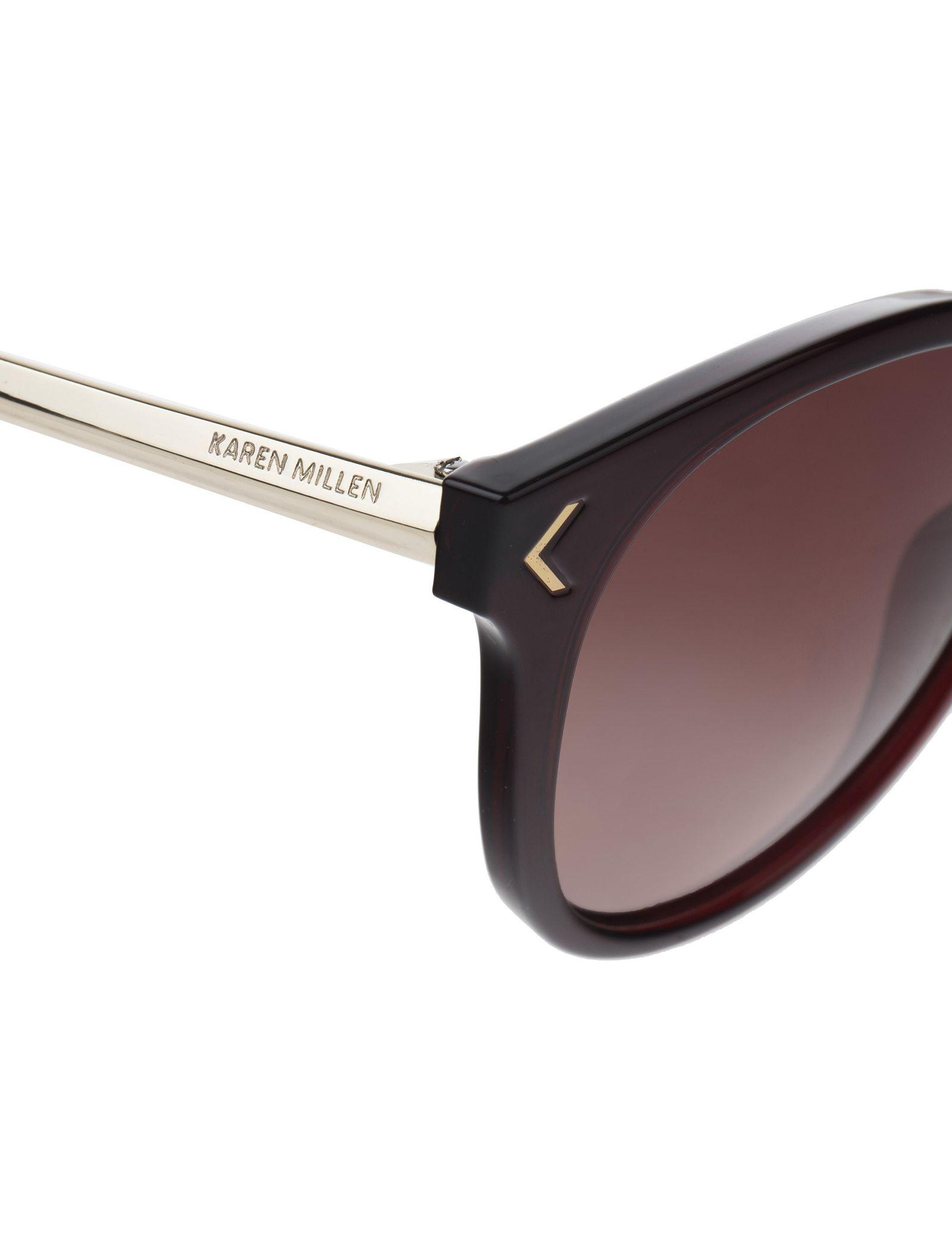 عینک آفتابی ویفرر زنانه - کارن میلن - قهوه اي - 6