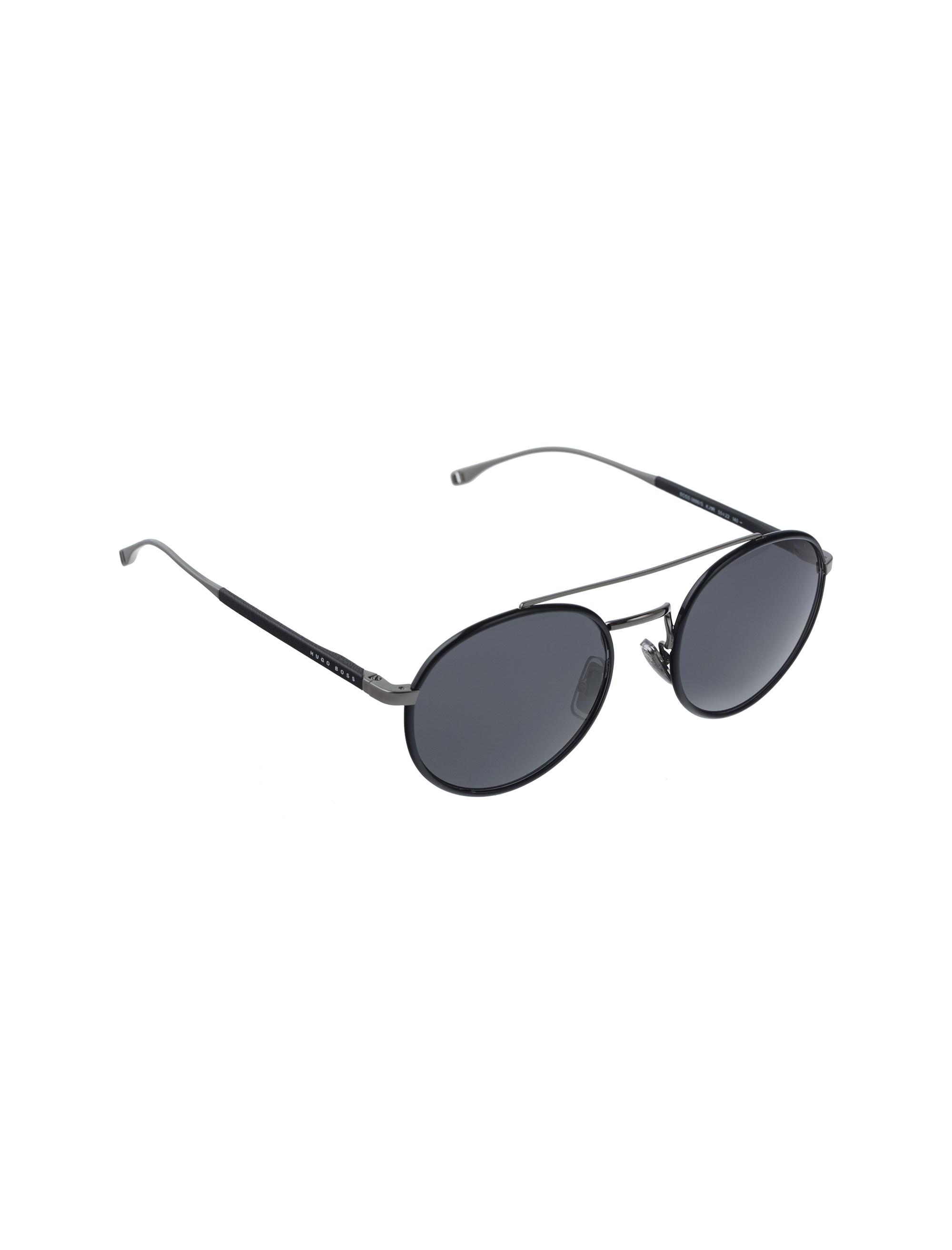 عینک آفتابی گرد مردانه - باس - مشکي - 2