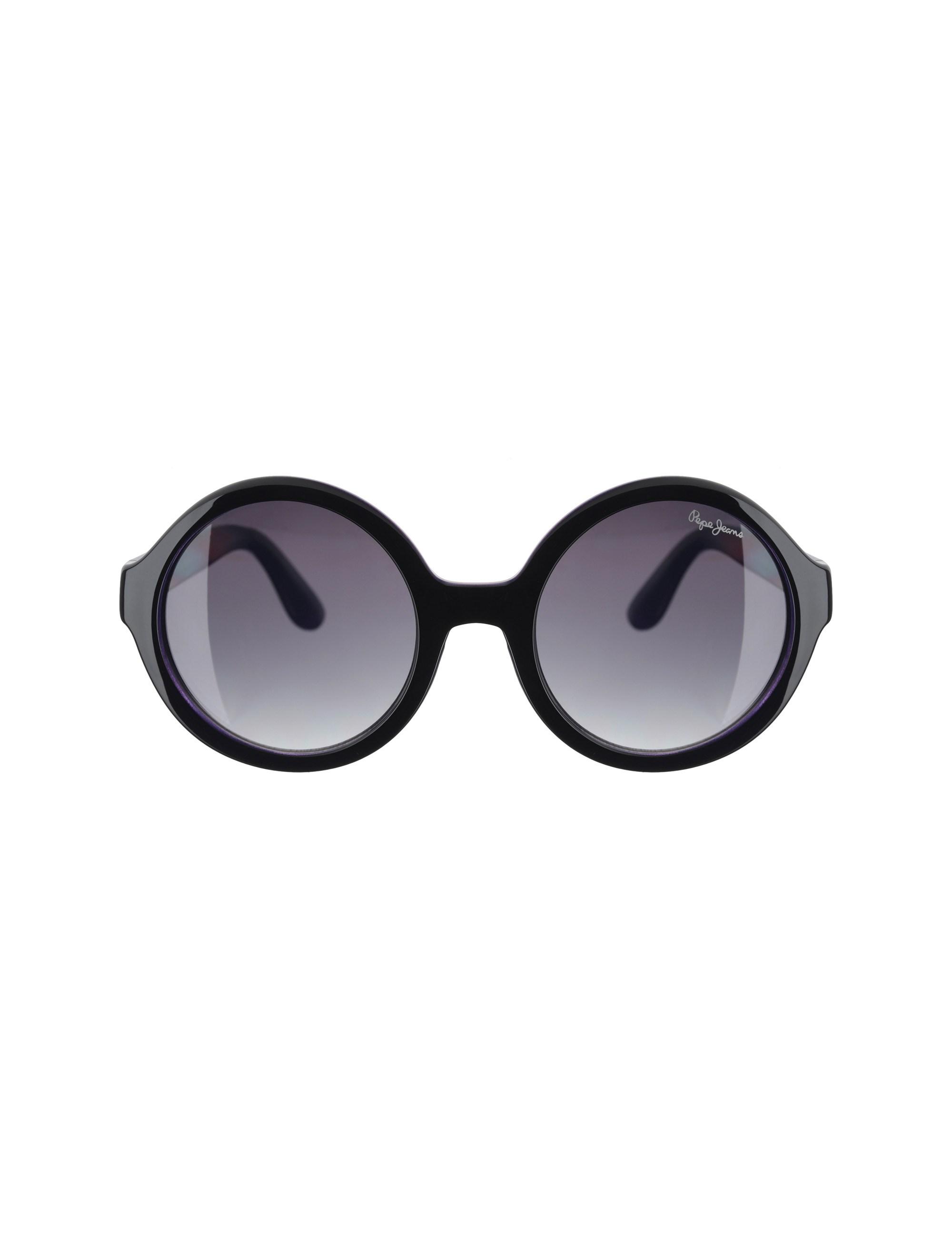عینک آفتابی گرد دخترانه - مشکي - 1