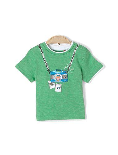 تی شرت نخی یقه گرد نوزادی پسرانه - اس.اولیور