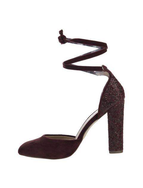 کفش پاشنه بلند زنانه ABIGODDA - زرشکي - 3
