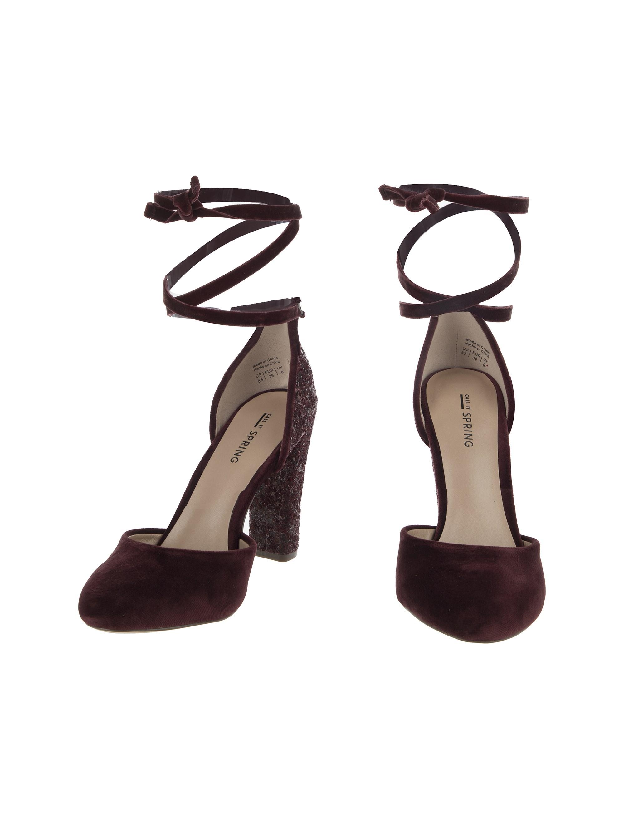کفش پاشنه بلند زنانه ABIGODDA - زرشکي - 4