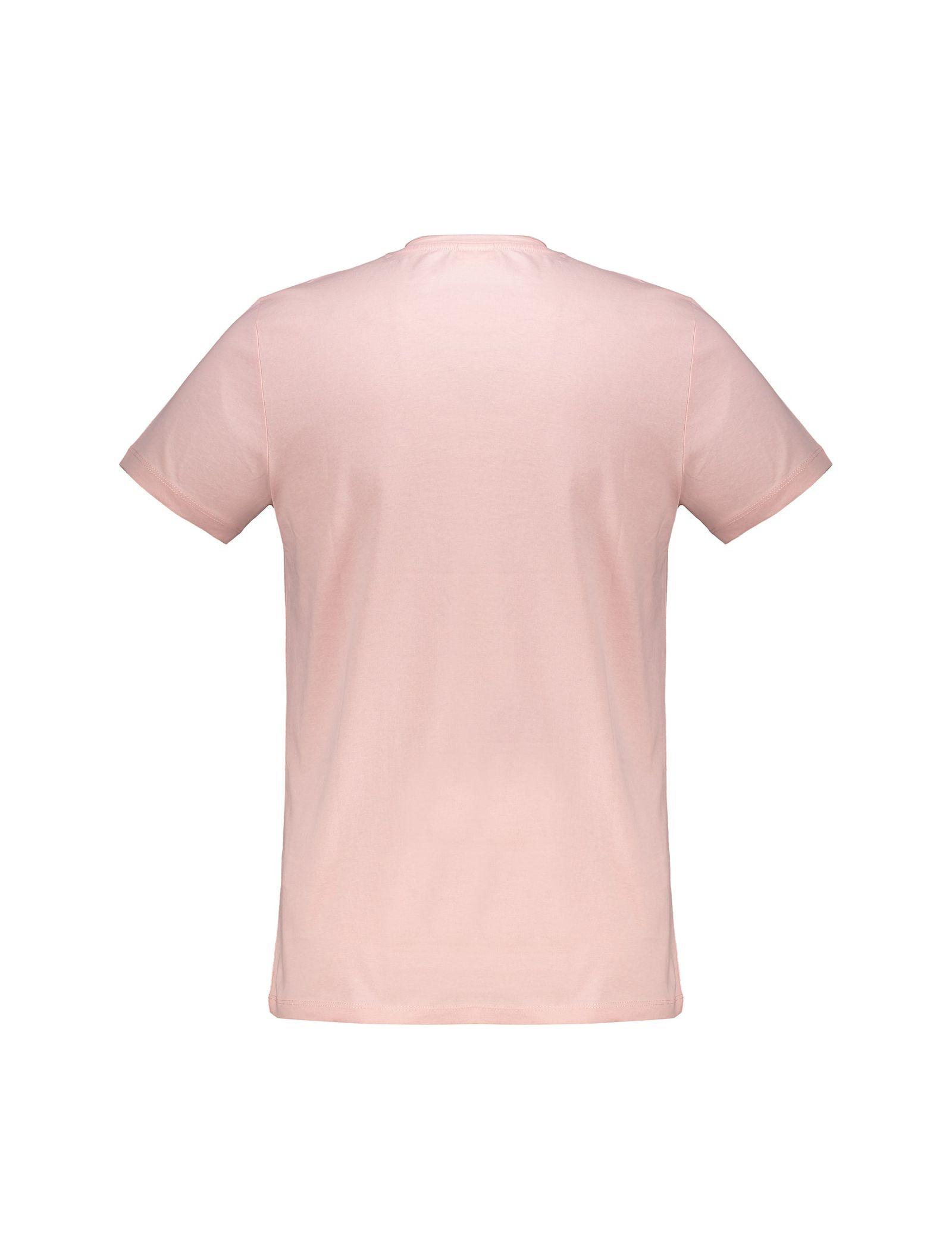 تی شرت نخی یقه گرد مردانه - ال سی وایکیکی - صورتي - 5