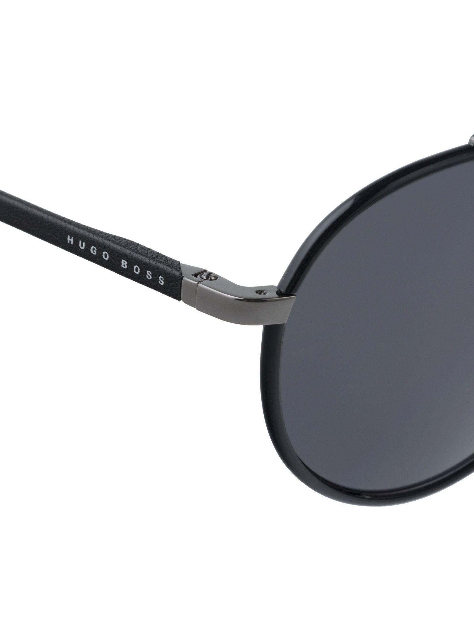 عینک آفتابی گرد مردانه - باس - مشکي - 5