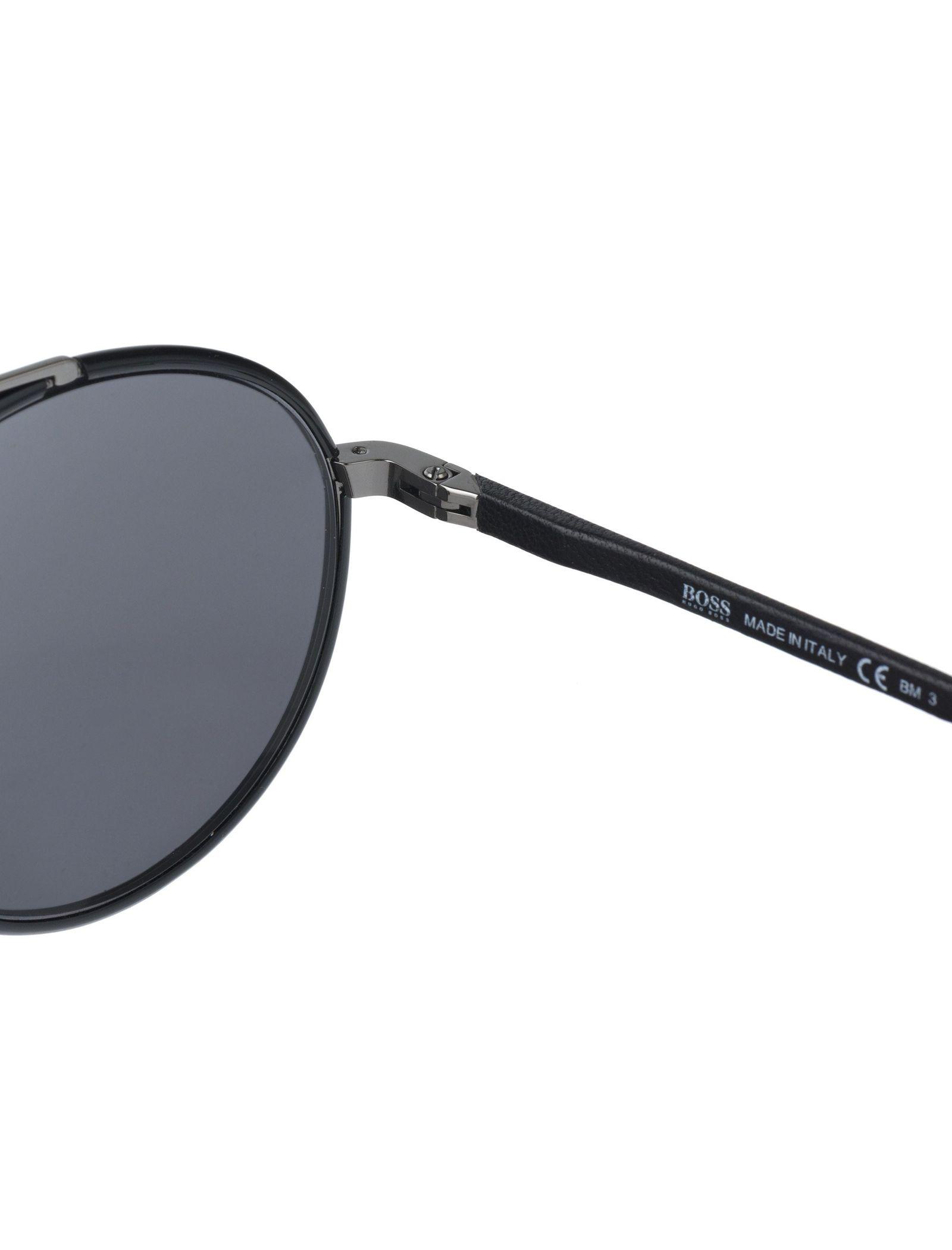 عینک آفتابی گرد مردانه - باس - مشکي - 6