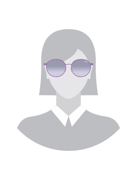 عینک آفتابی گرد زنانه - پپه جینز - بنفش روشن - 5