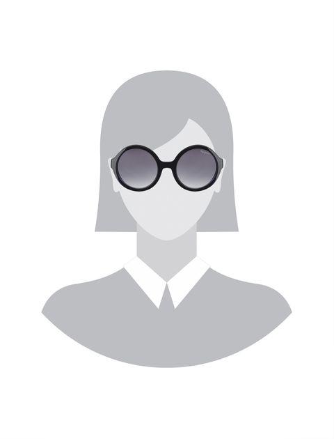 عینک آفتابی گرد دخترانه - مشکي - 5