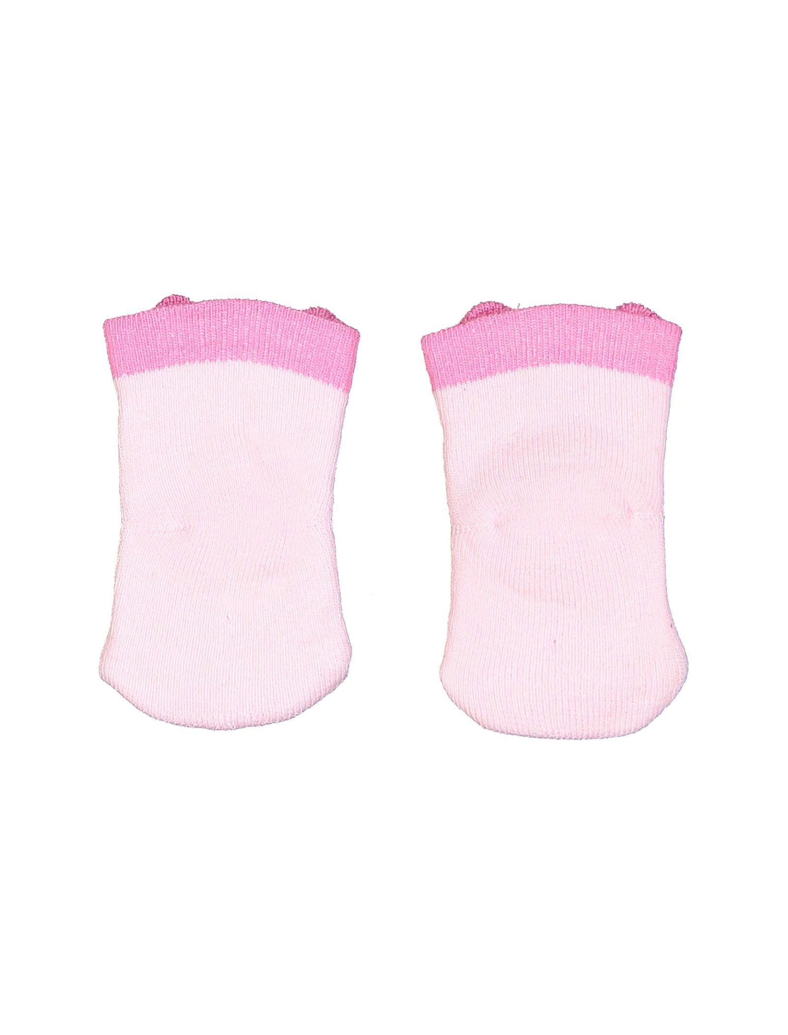 جوراب نخی طرح دار نوزادی - ایدکس - صورتي - 2
