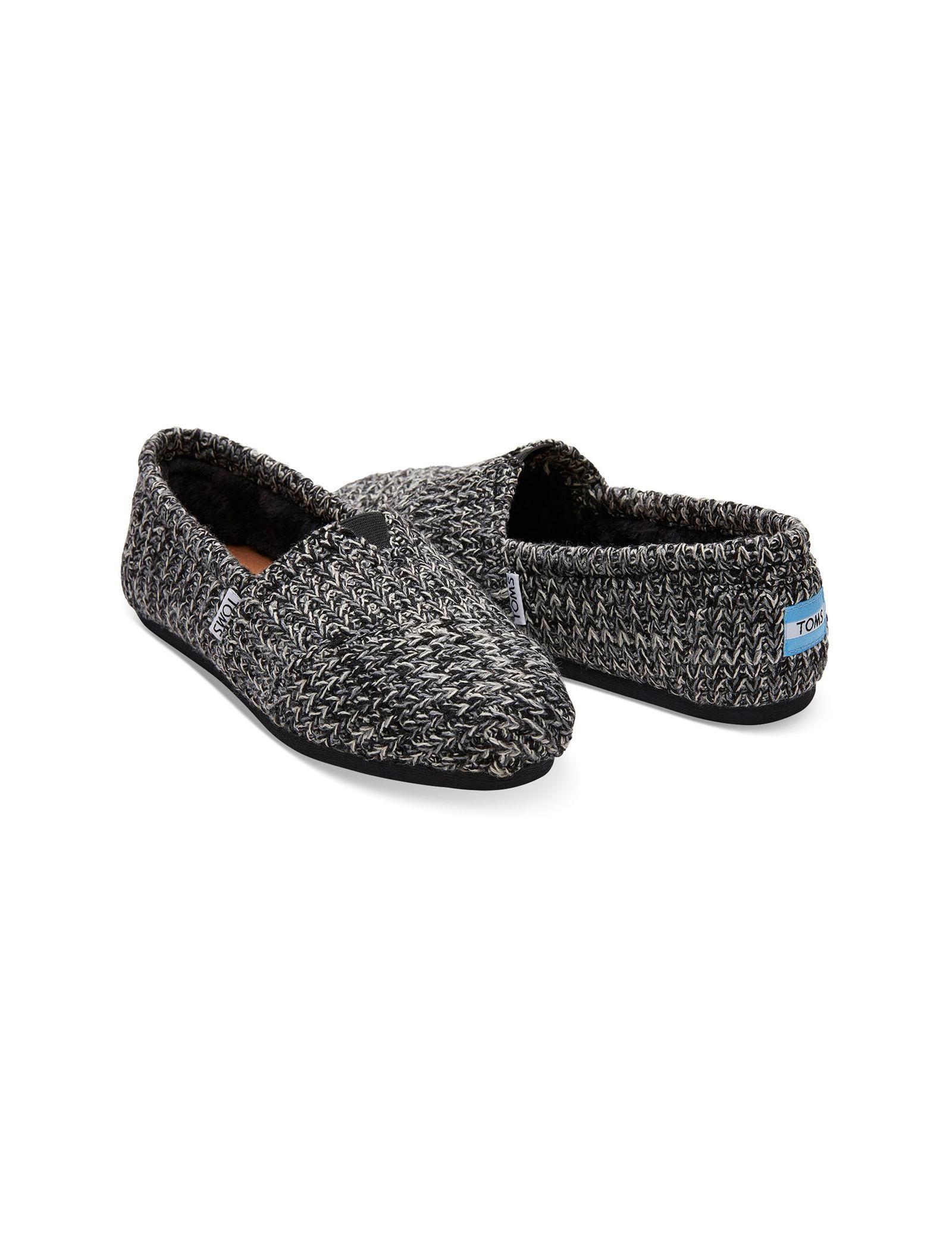 کفش تخت بافتنی زنانه - تامز - مشکي - 2