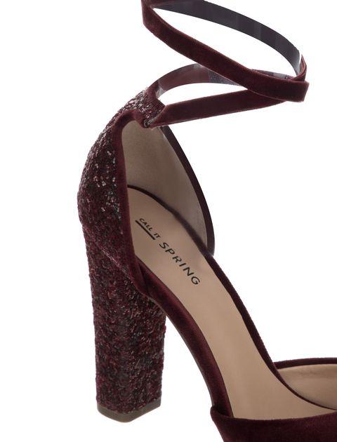 کفش پاشنه بلند زنانه ABIGODDA - زرشکي - 7