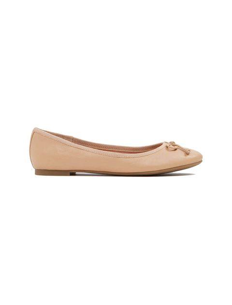 کفش تخت عروسکی چرم زنانه - آلدو - کرم - 1