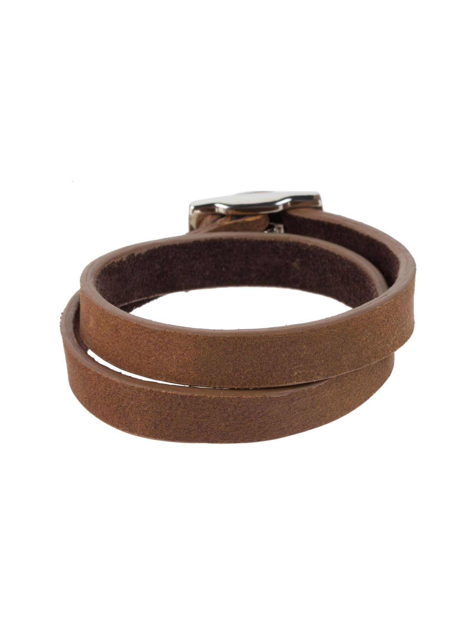 دستبند چرم مردانه - ماکو دیزاین سایز 42 cm - قهوه اي روشن - 1