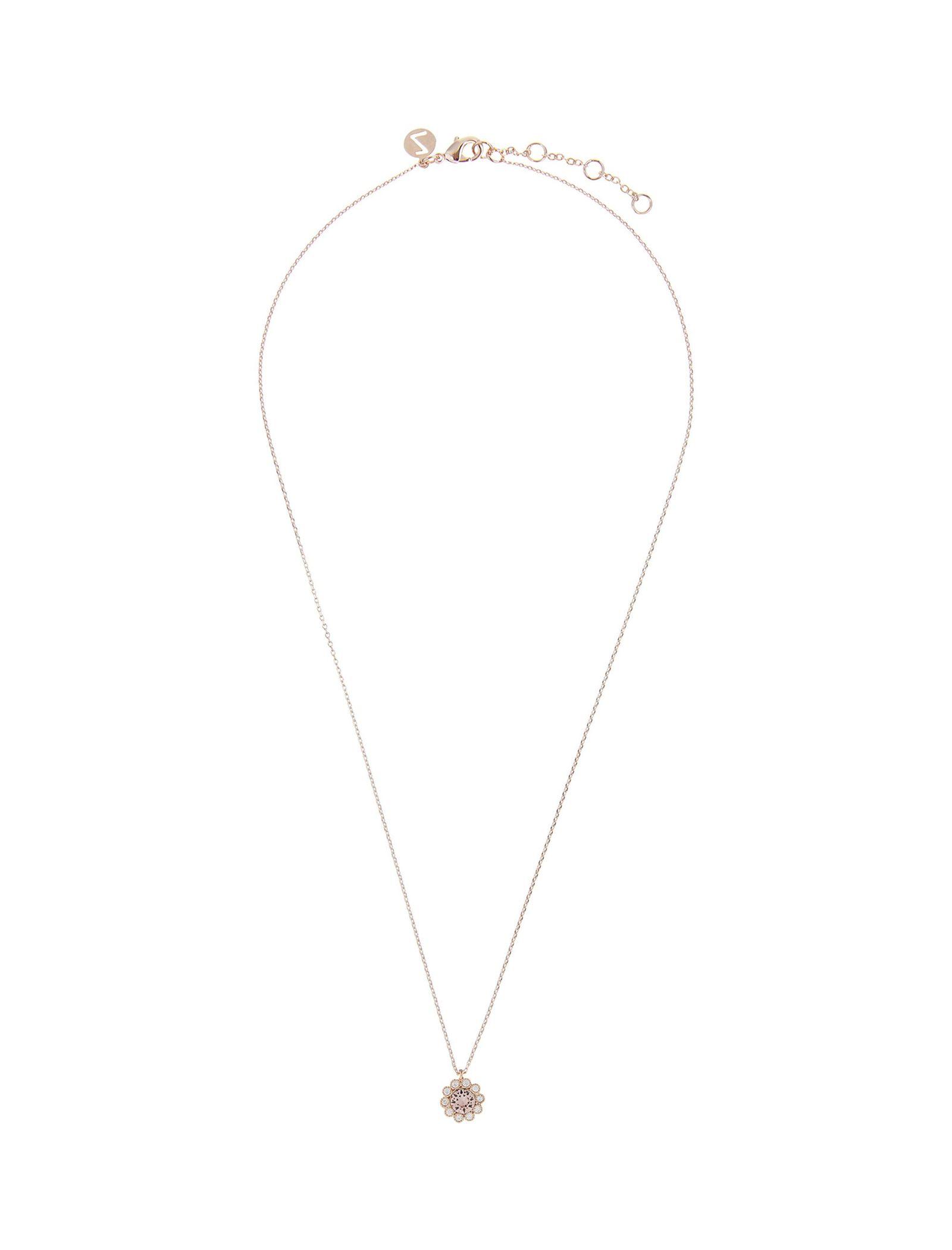 گردنبند برنجی آویز زنانه Flower - اکسسوریز تک سایز - صورتي - 1