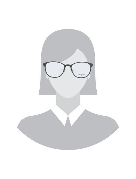 عینک طبی گرد زنانه - طوسي - 5