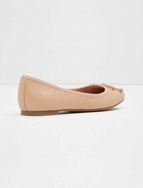 کفش تخت عروسکی چرم زنانه - آلدو - کرم - 3