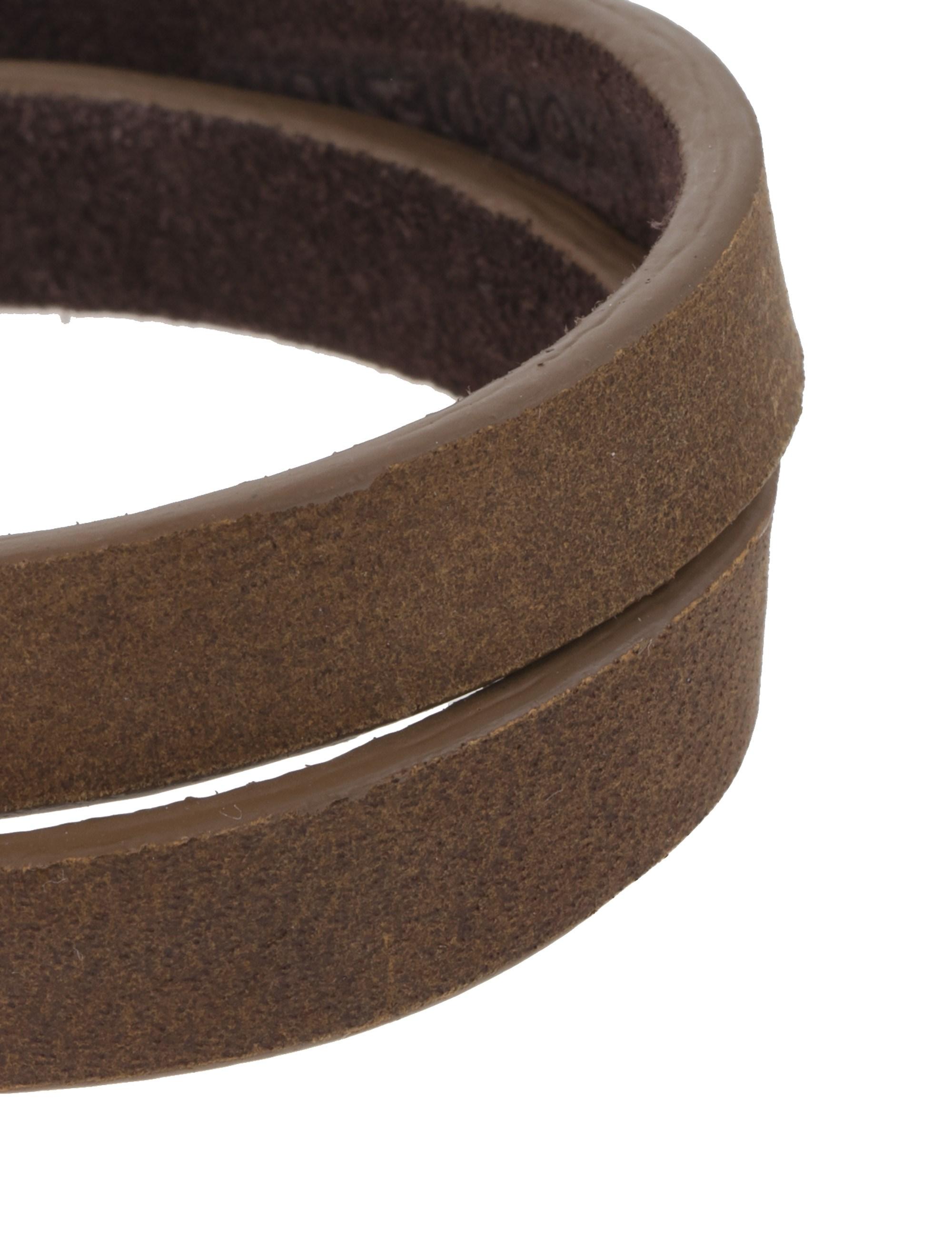 دستبند چرم مردانه - ماکو دیزاین سایز 42 cm - قهوه اي روشن - 3