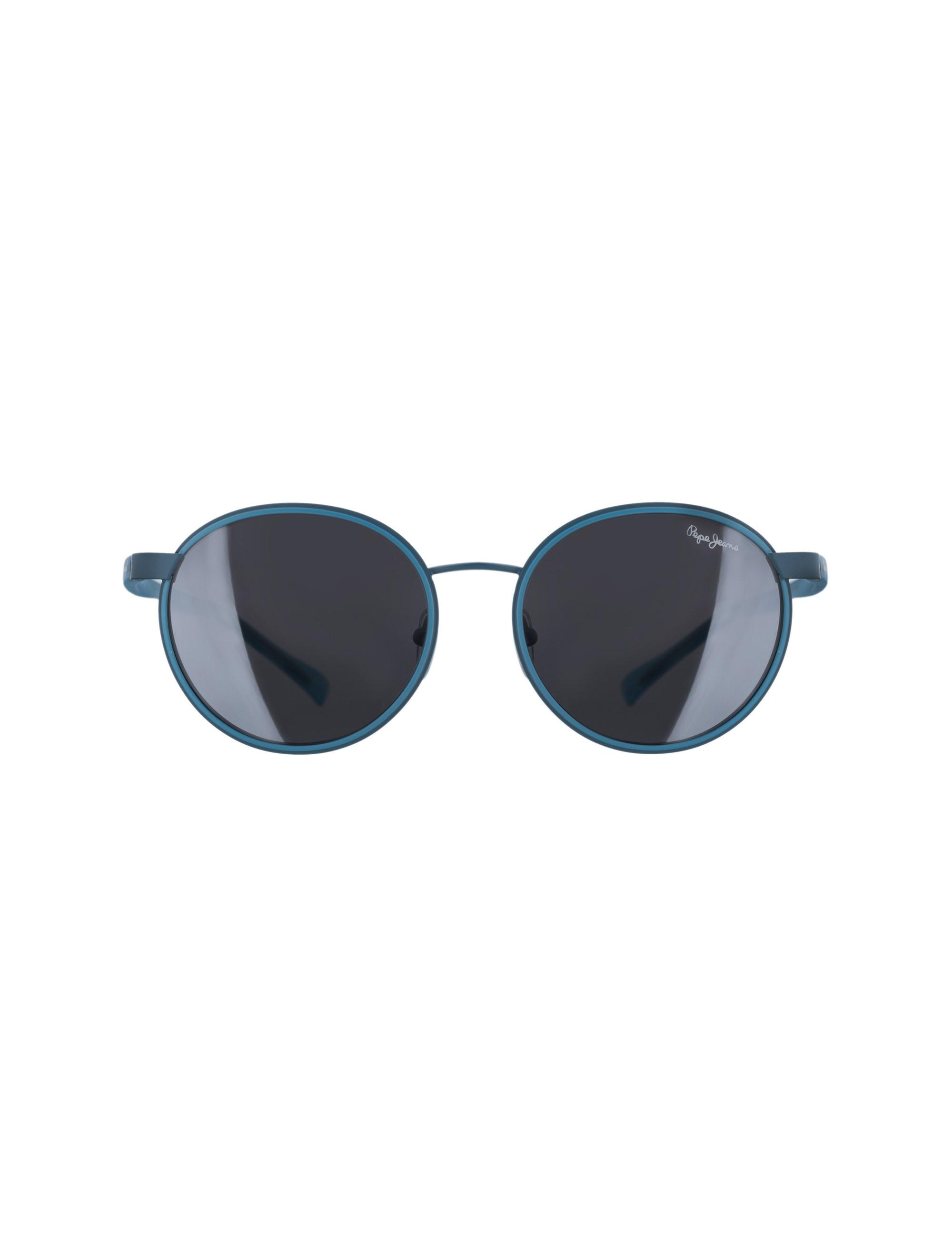 عینک آفتابی گرد زنانه - آبي - 1