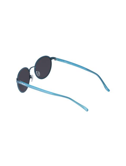 عینک آفتابی گرد زنانه - آبي - 4
