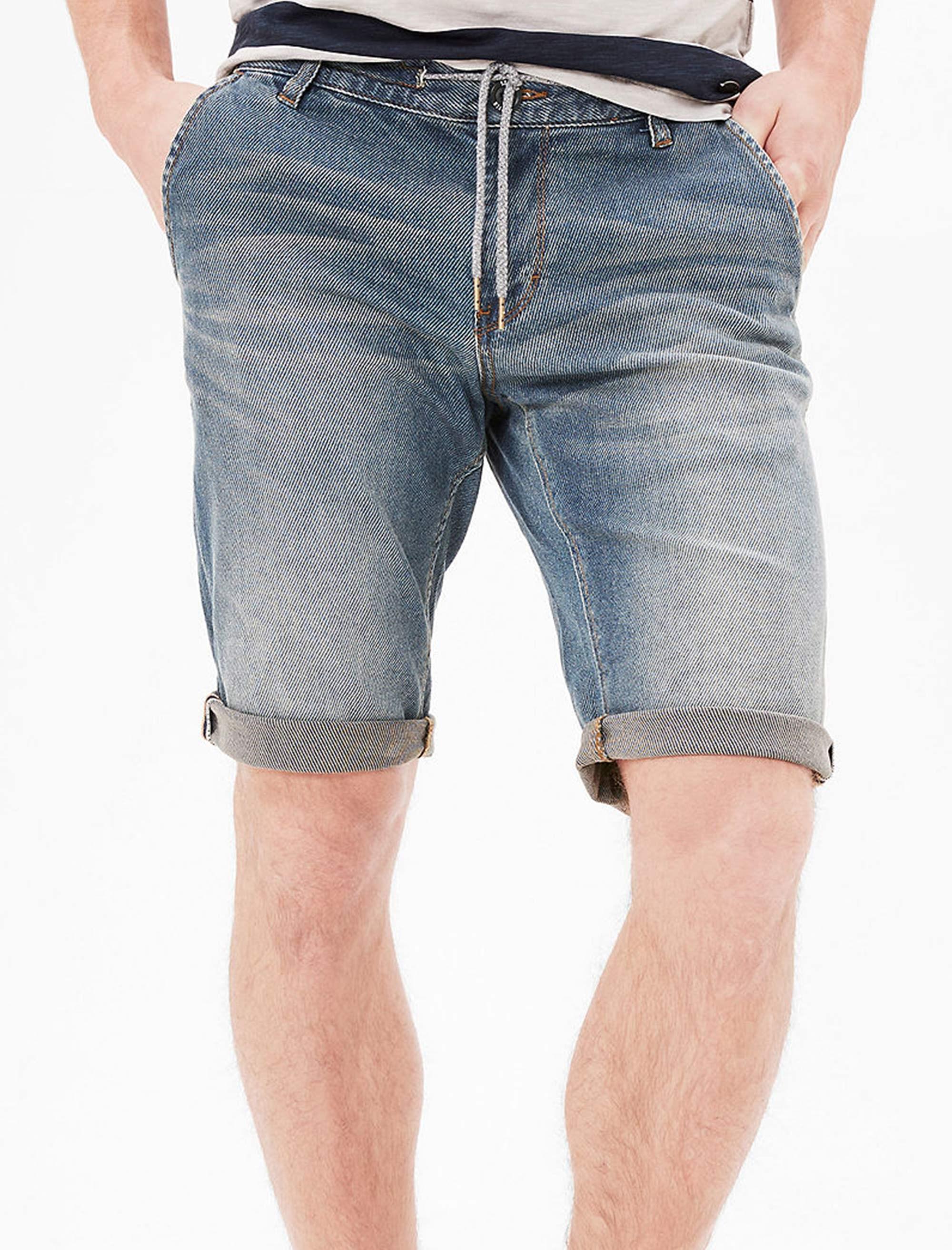 شلوارک جین مردانه - اس.اولیور - آبي  - 2