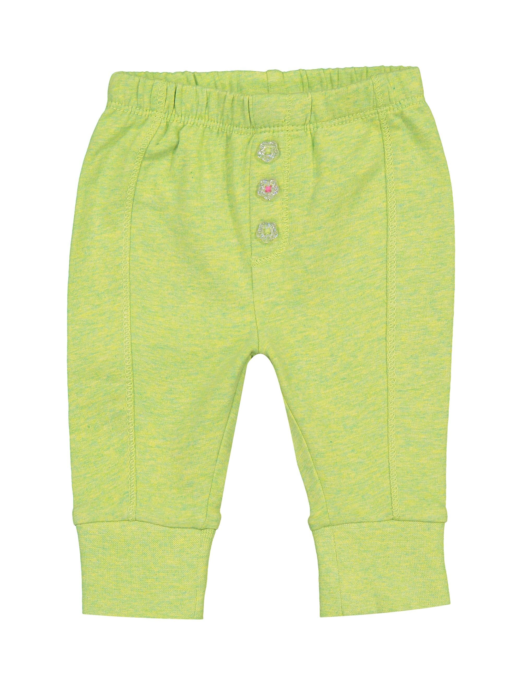 شلوار نخی طرح دار نوزادی دخترانه - اس.اولیور - سبز - 1