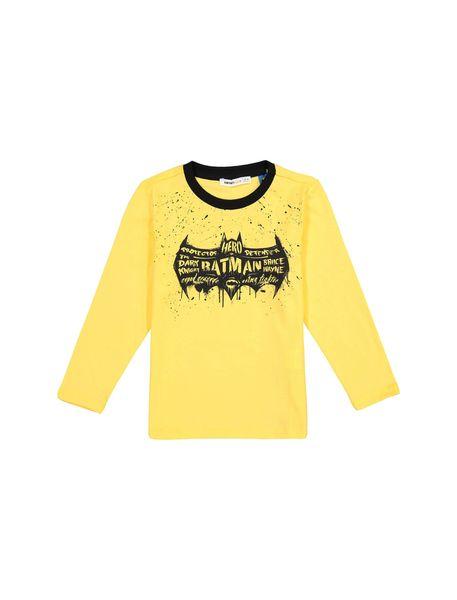 تی شرت نخی آستین بلند پسرانه - زرد - 1