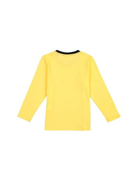 تی شرت نخی آستین بلند پسرانه - زرد - 2