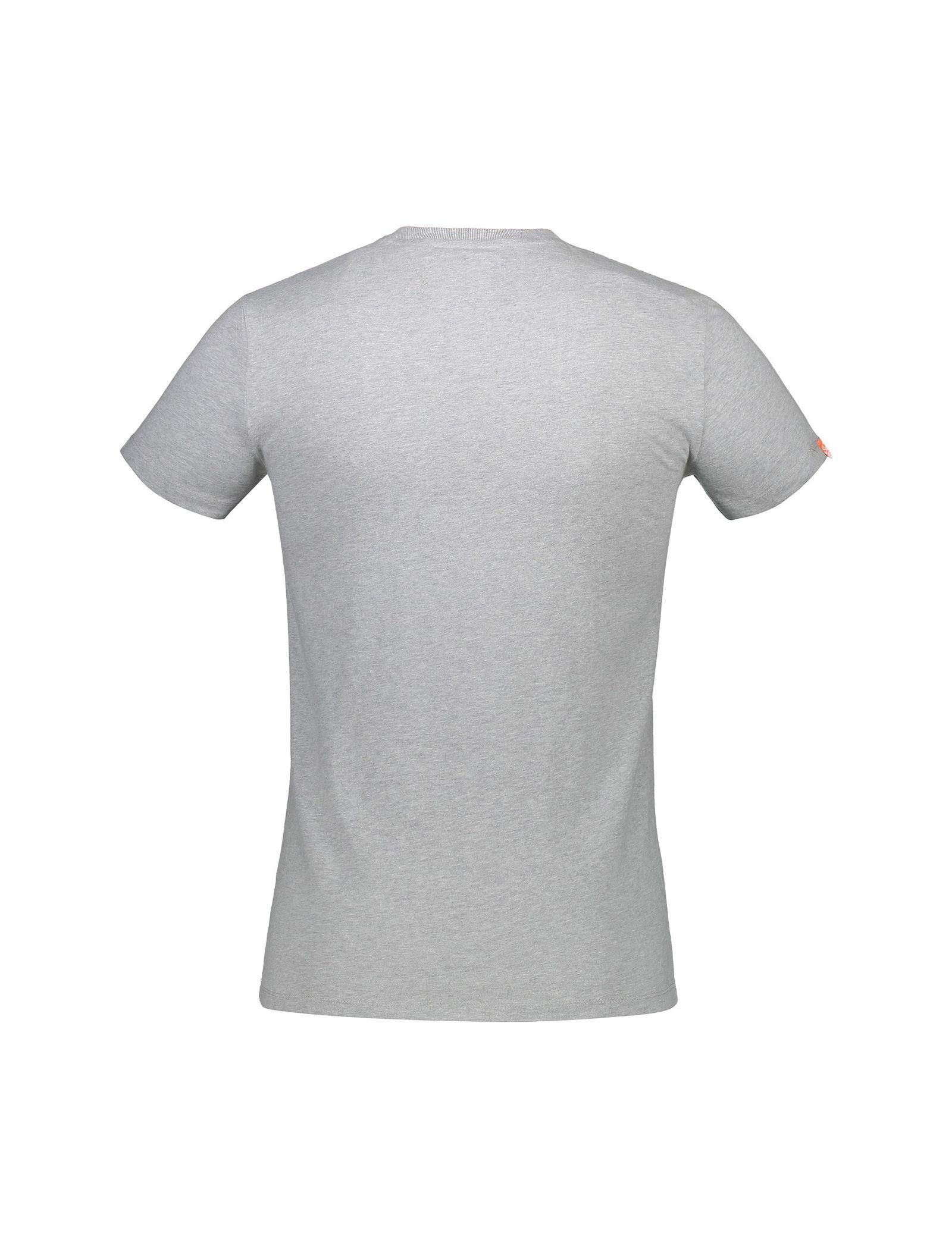 تی شرت نخی یقه گرد مردانه Orange Label Vintage Emb - سوپردرای - طوسي روشن   - 2