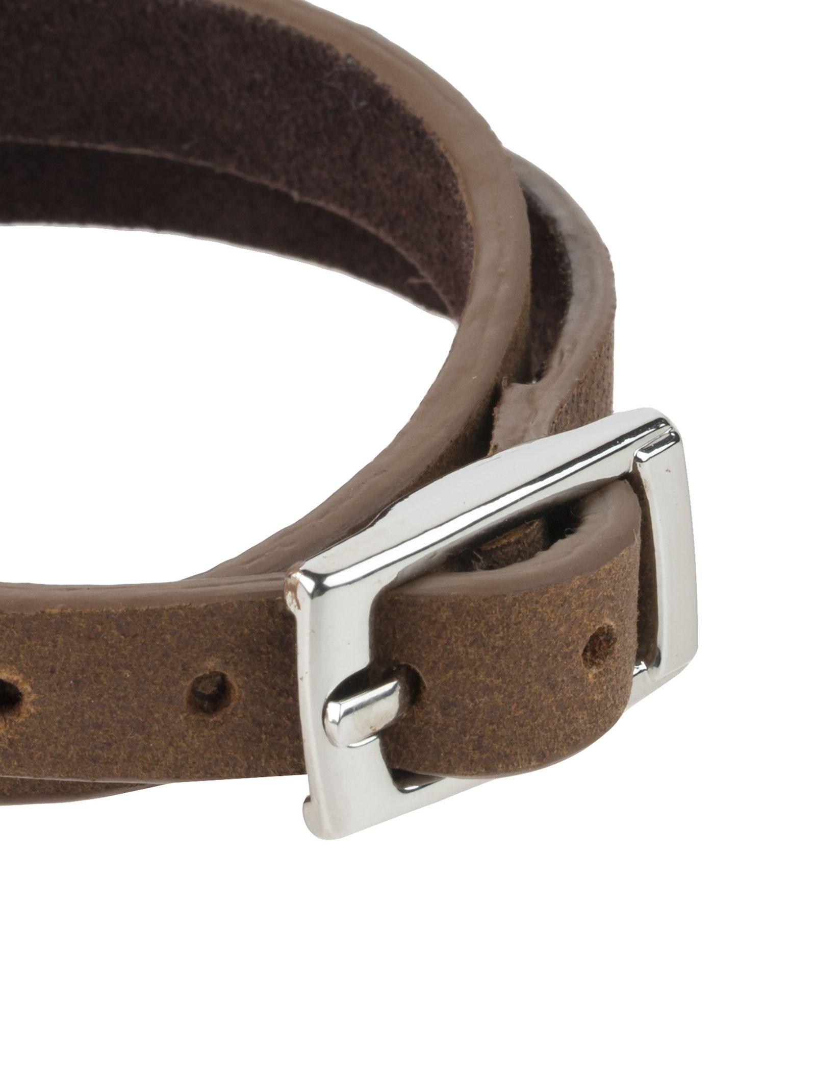 دستبند چرم مردانه - ماکو دیزاین سایز 42 cm - قهوه اي روشن - 4