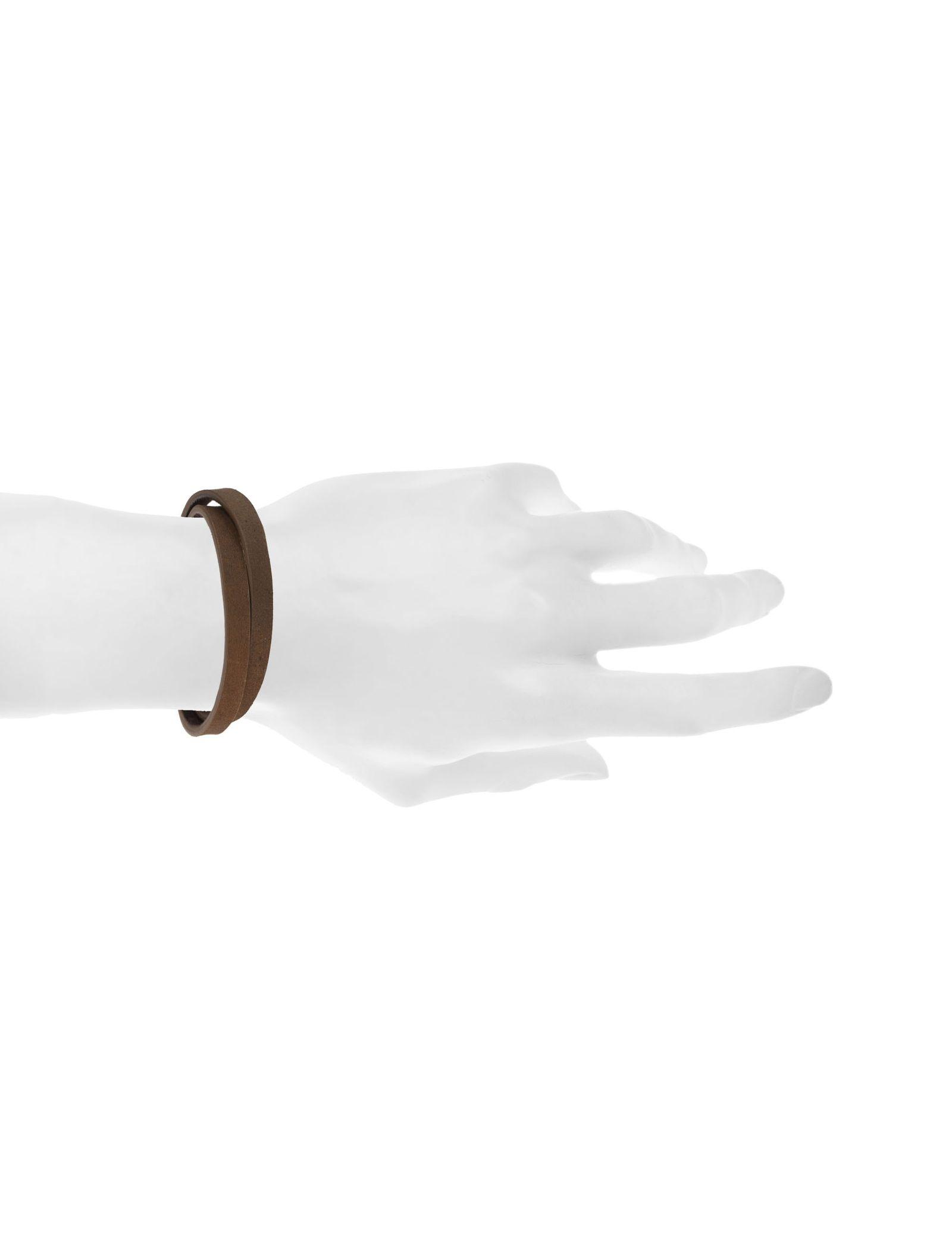 دستبند چرم مردانه - ماکو دیزاین سایز 42 cm - قهوه اي روشن - 5