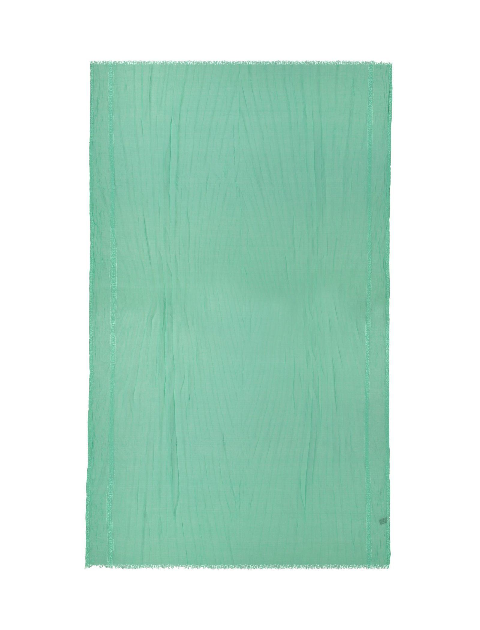شال ساده زنانه - دونابل - سبز  - 1