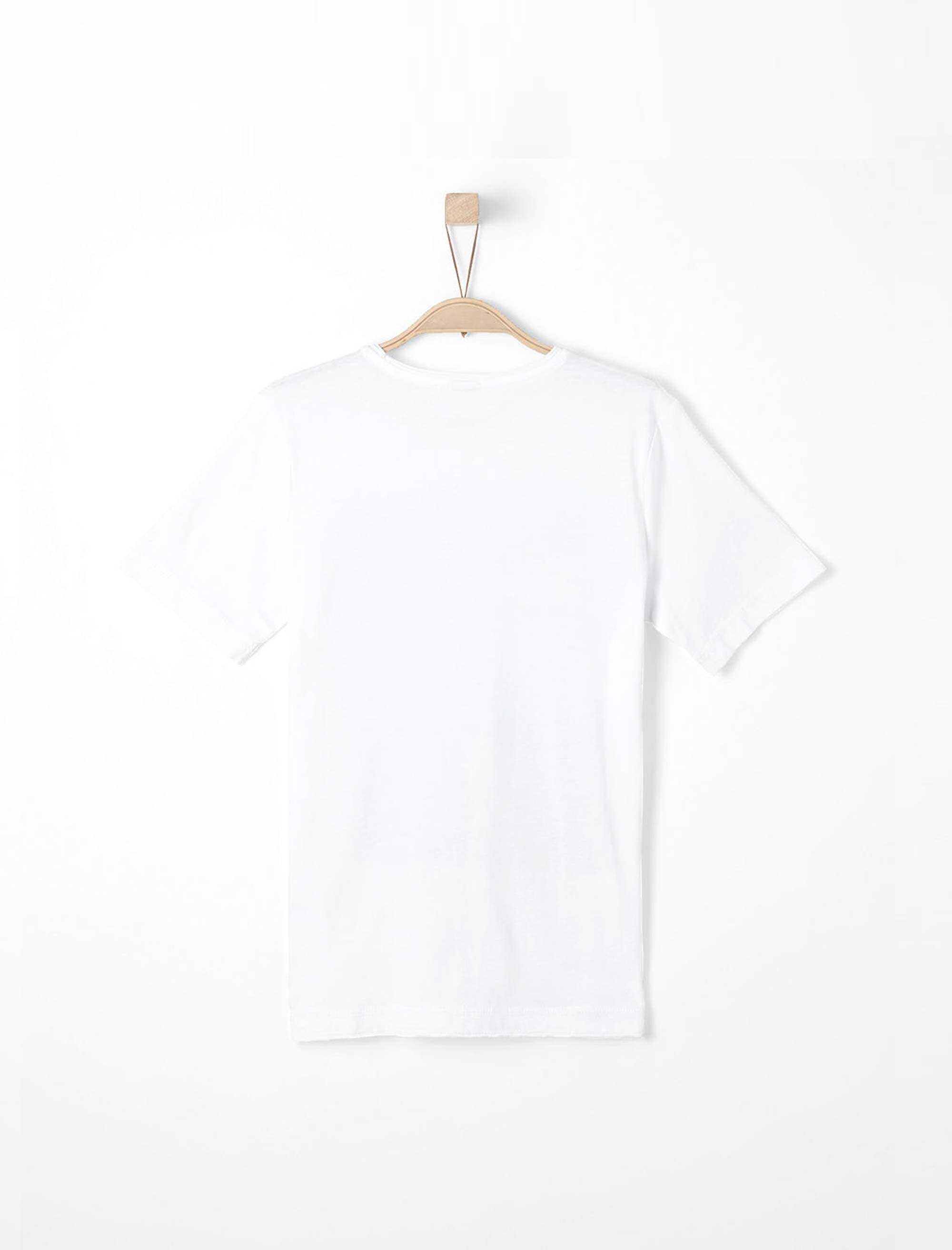 تی شرت نخی یقه گرد پسرانه - اس.اولیور - سفيد - 2