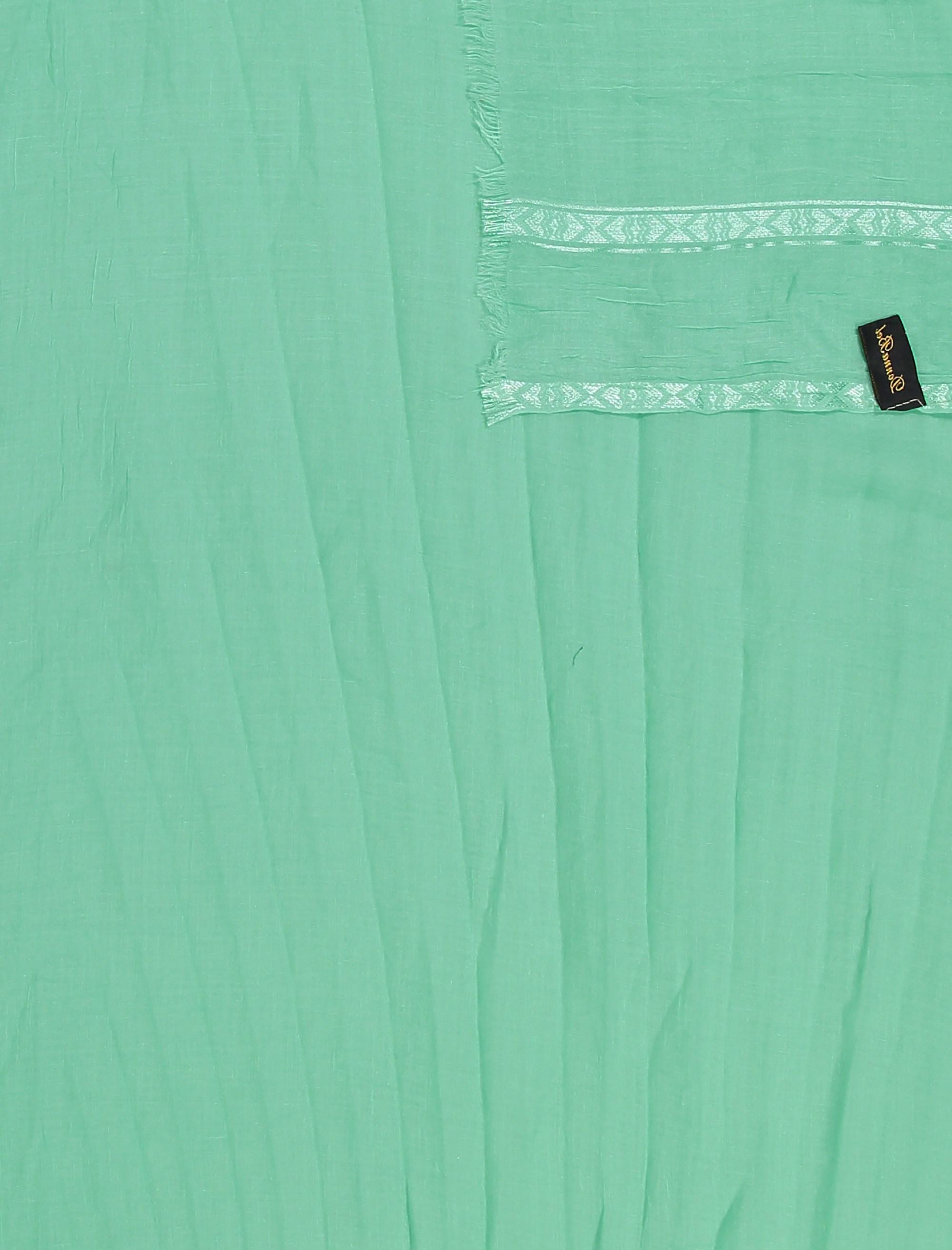 شال ساده زنانه - دونابل - سبز  - 2