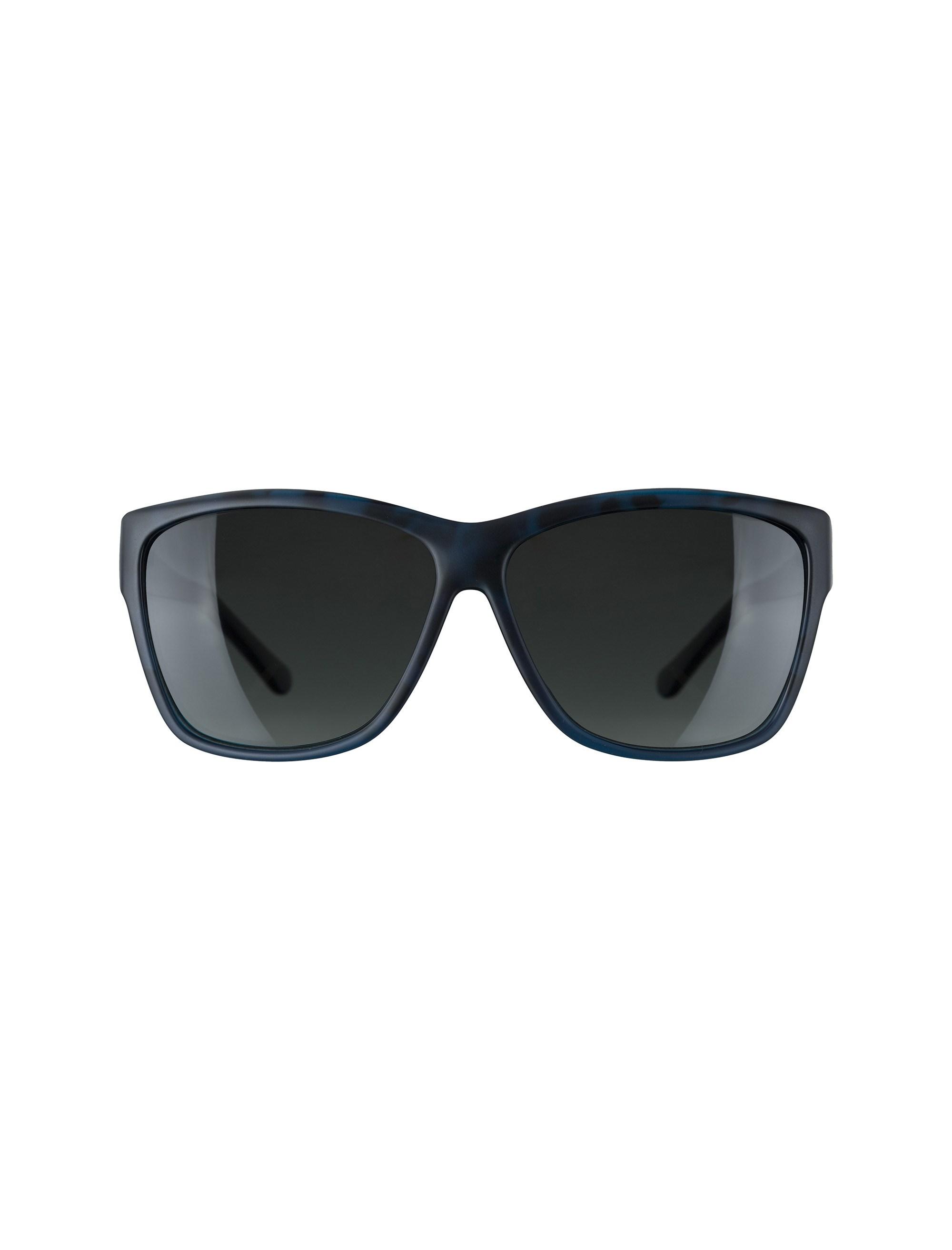 عینک آفتابی مربعی زنانه - مشکي و آبي - 1