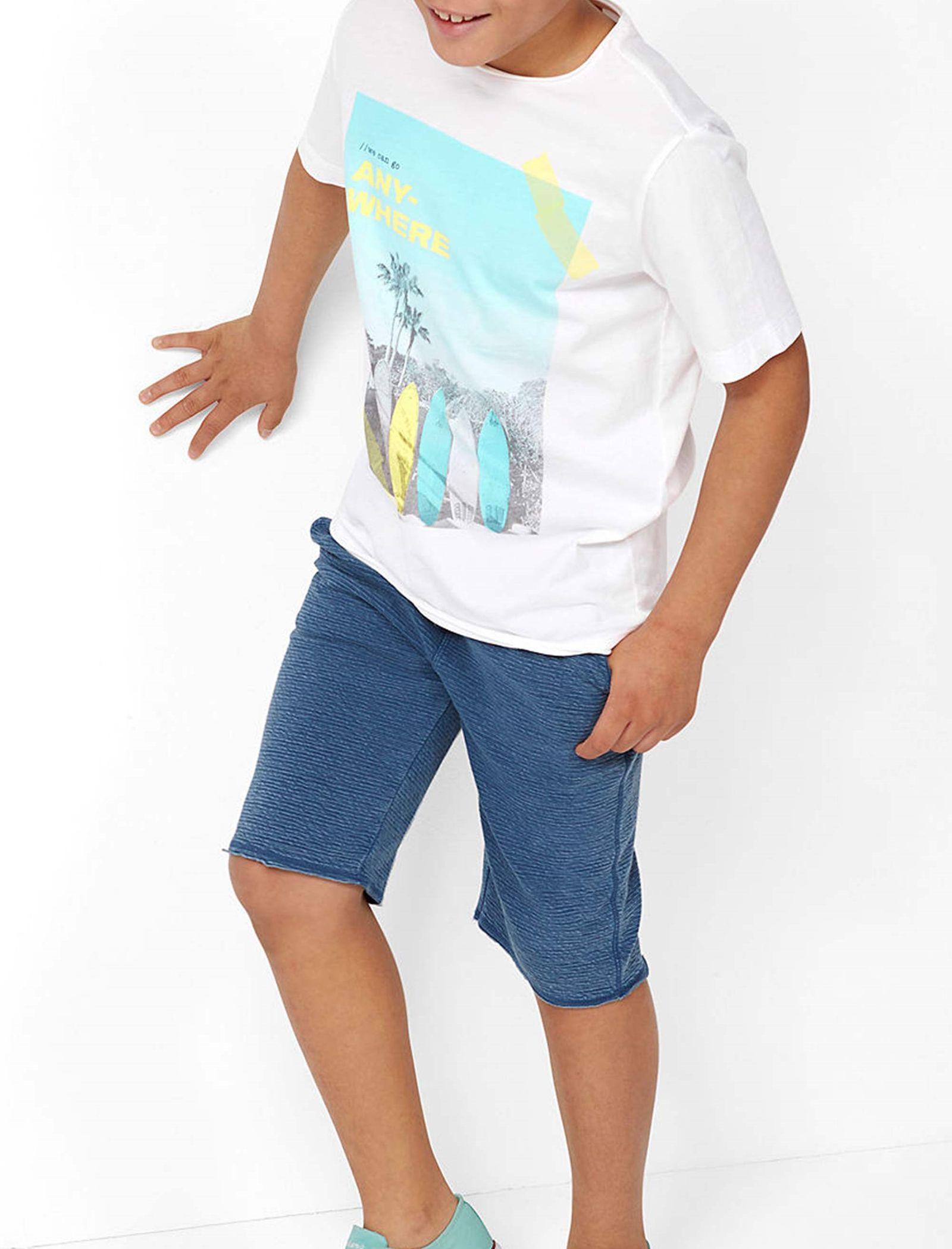 تی شرت نخی یقه گرد پسرانه - اس.اولیور - سفيد - 3