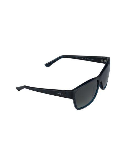 عینک آفتابی مربعی زنانه - مشکي و آبي - 2
