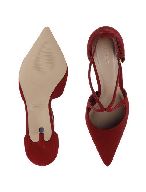 کفش پاشنه بلند چرم زنانه - آلدو - قرمز - 2