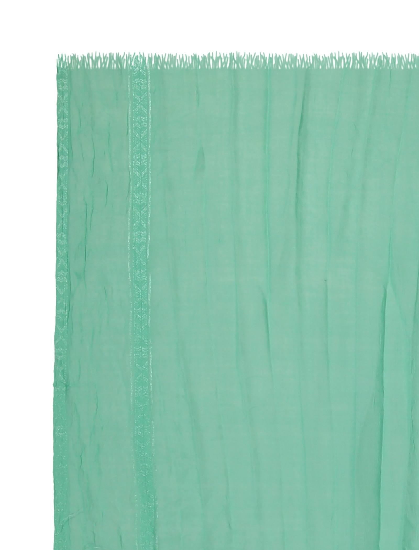 شال ساده زنانه - دونابل - سبز  - 3