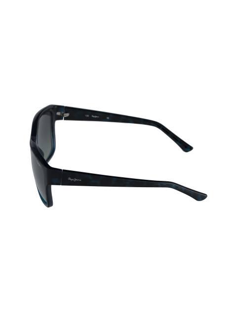 عینک آفتابی مربعی زنانه - مشکي و آبي - 3