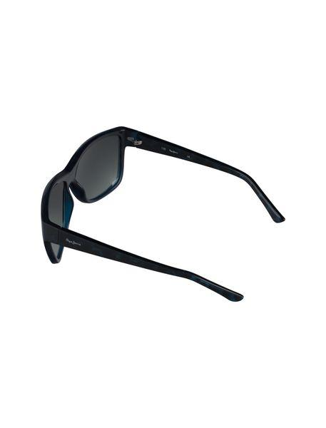 عینک آفتابی مربعی زنانه - مشکي و آبي - 4