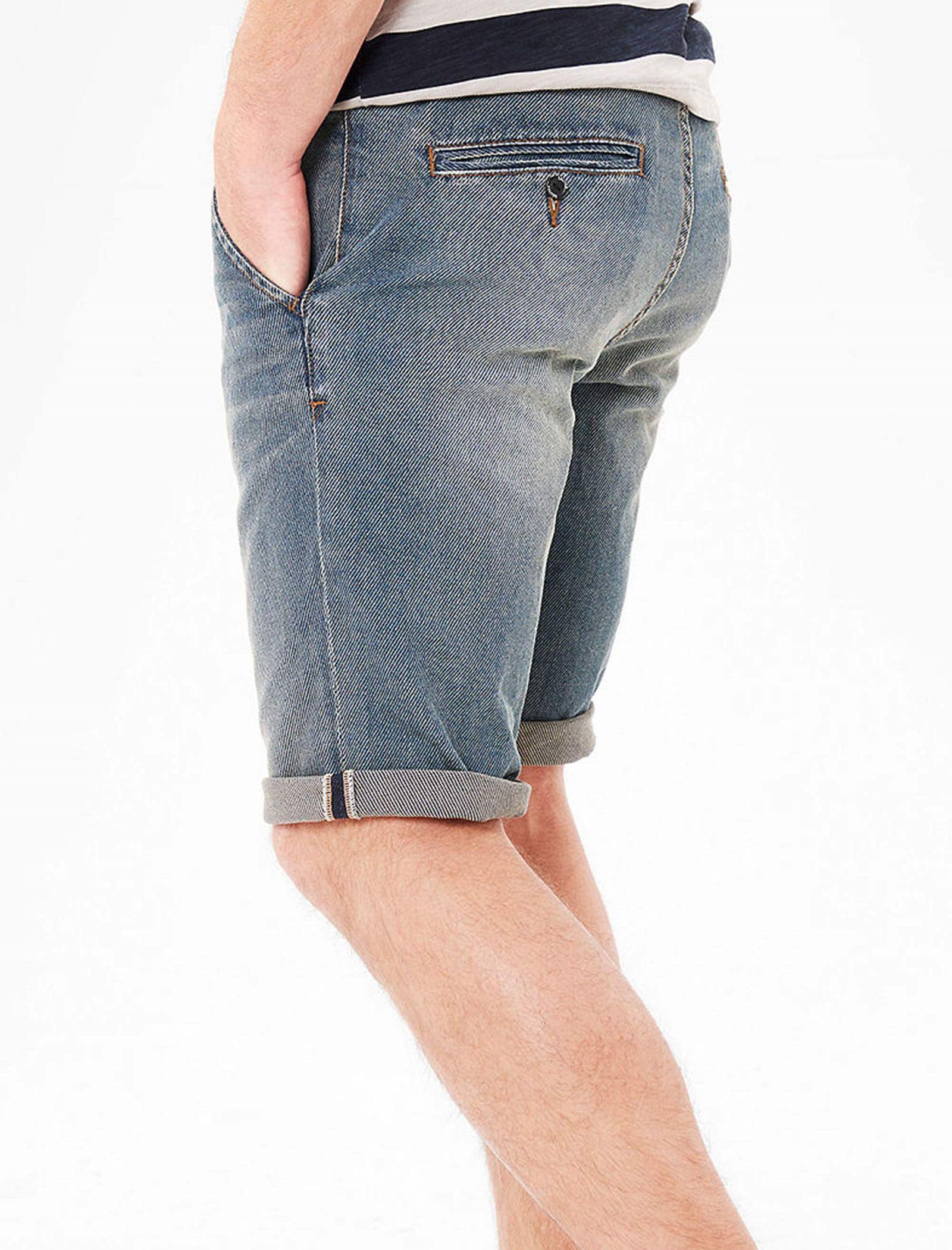 شلوارک جین مردانه - اس.اولیور - آبي  - 3
