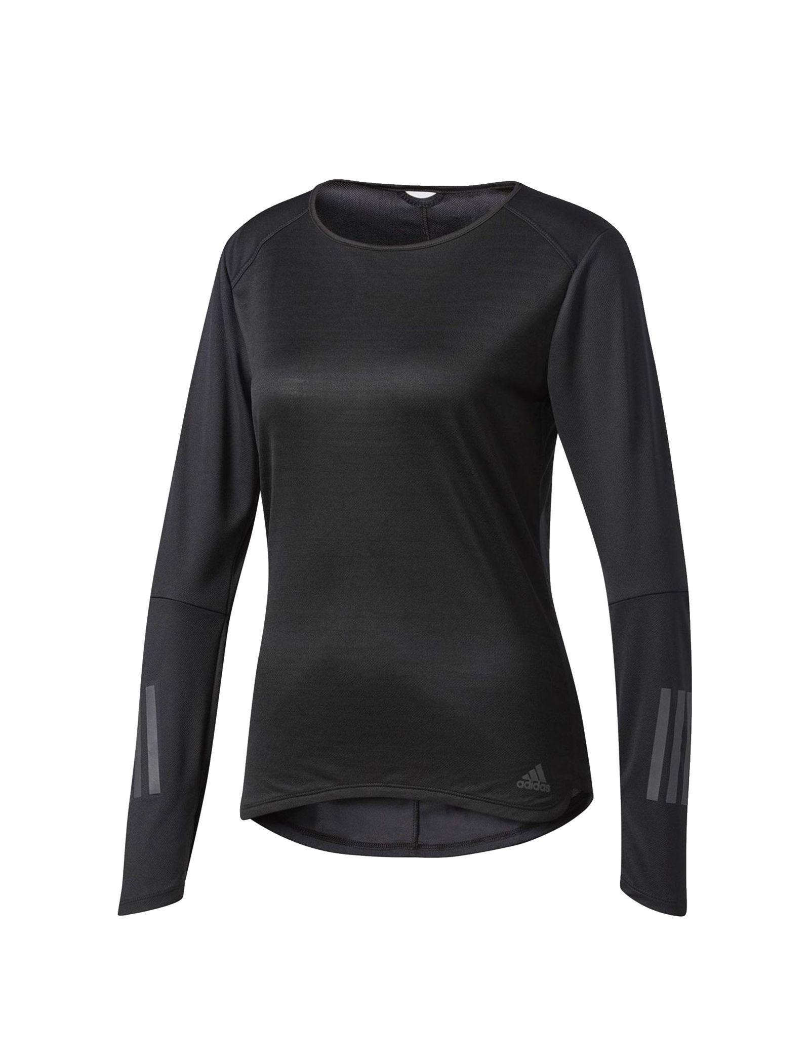 تی شرت ورزشی آستین بلند زنانه Response - آدیداس - مشکي - 1