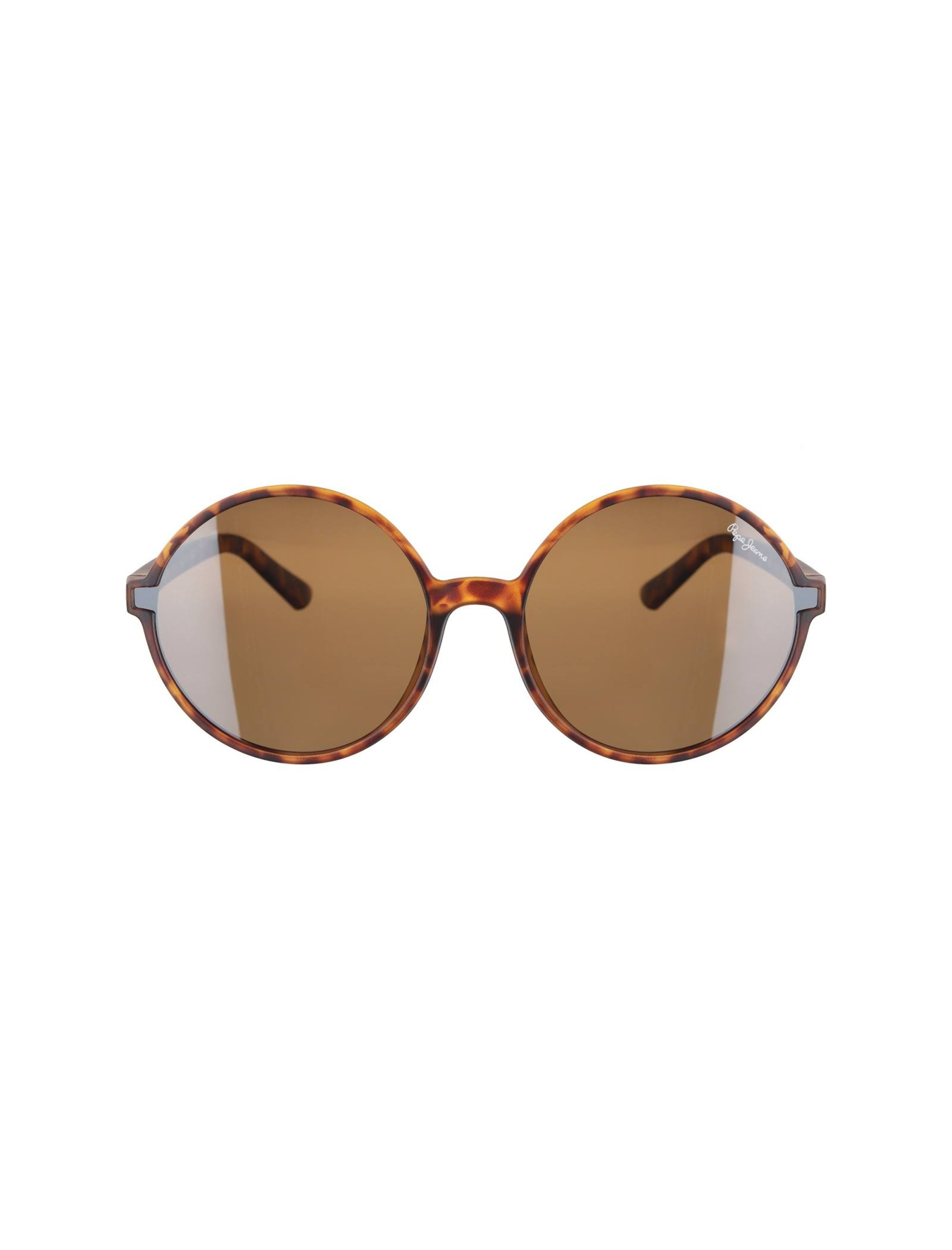 عینک آفتابی گرد زنانه - پپه جینز - قهوه اي  - 1