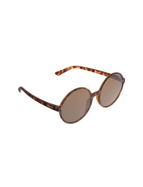 عینک آفتابی گرد زنانه - قهوه اي  - 2