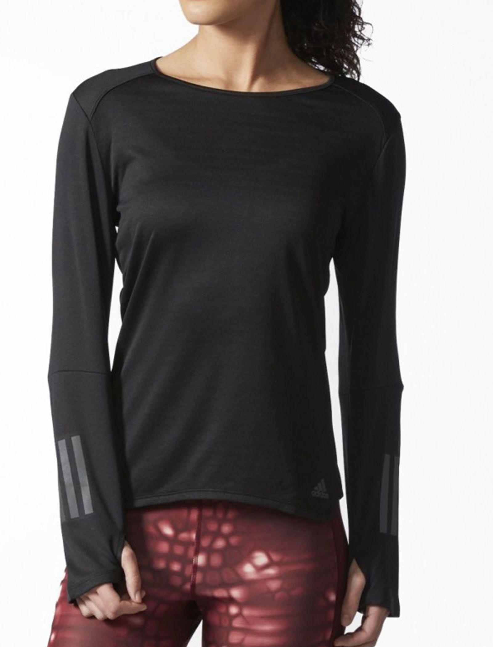 تی شرت ورزشی آستین بلند زنانه Response - آدیداس - مشکي - 3