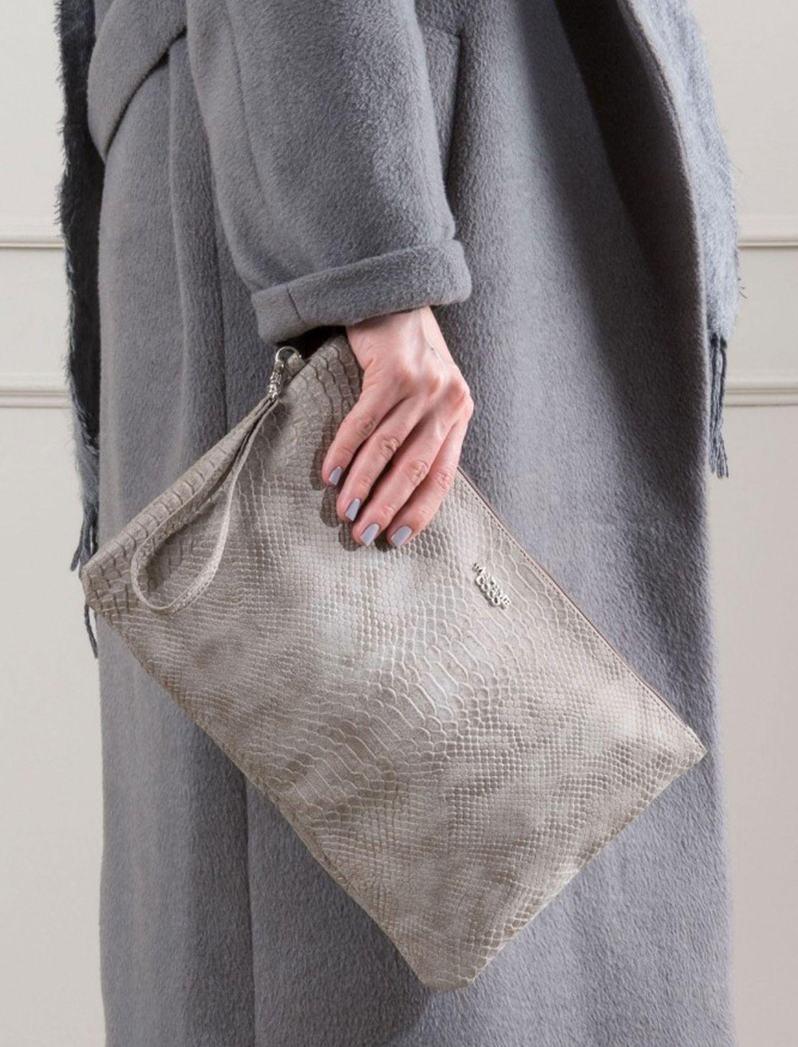 کیف دستی روزمره زنانه - مادام کوکو - طوسي - 2