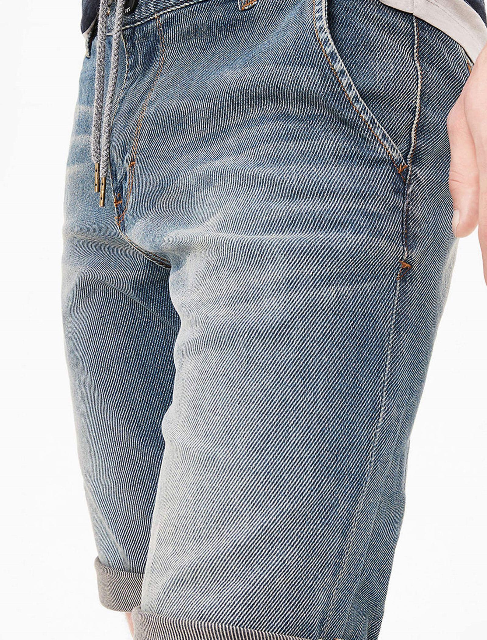 شلوارک جین مردانه - اس.اولیور - آبي  - 4