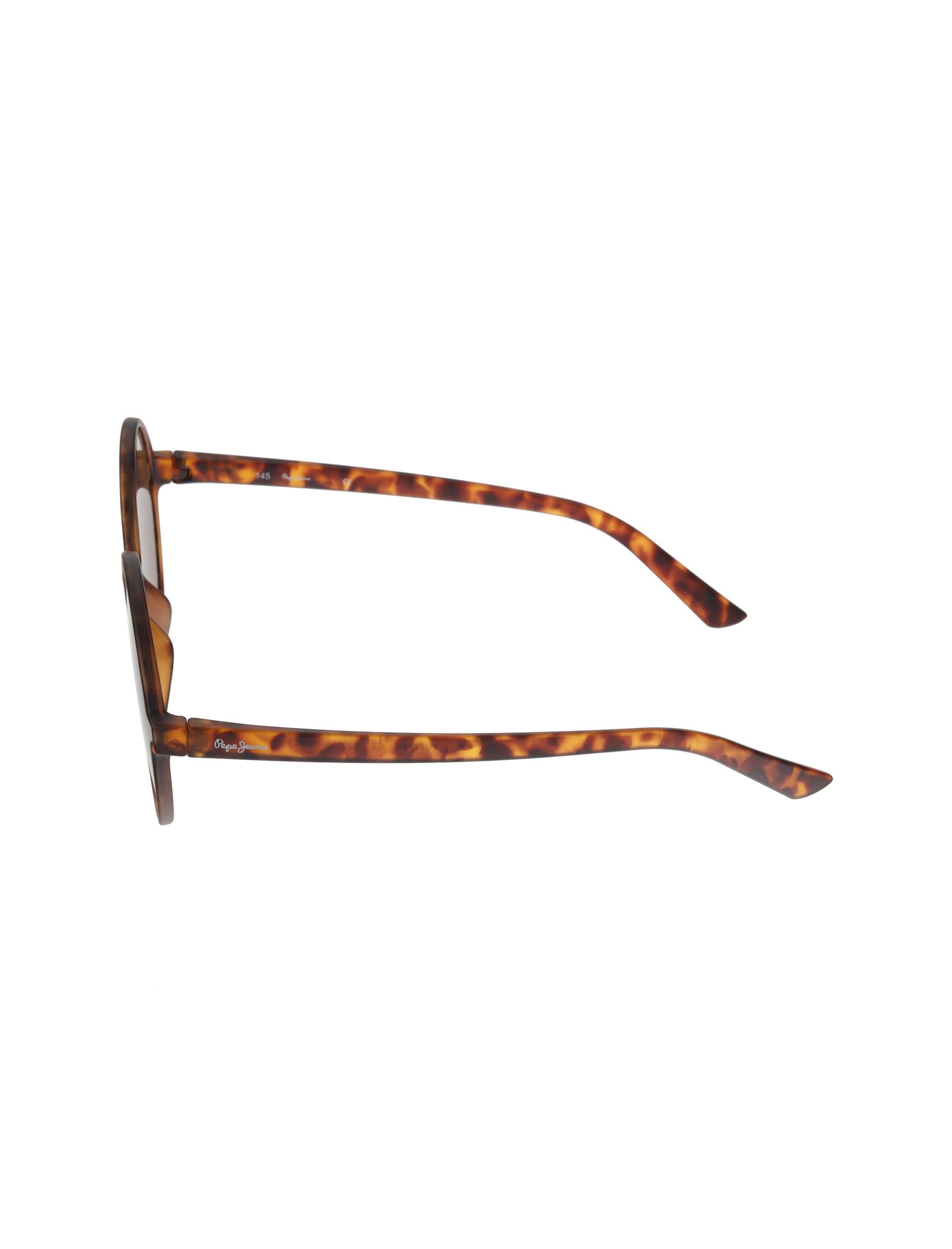 عینک آفتابی گرد زنانه - قهوه اي  - 3