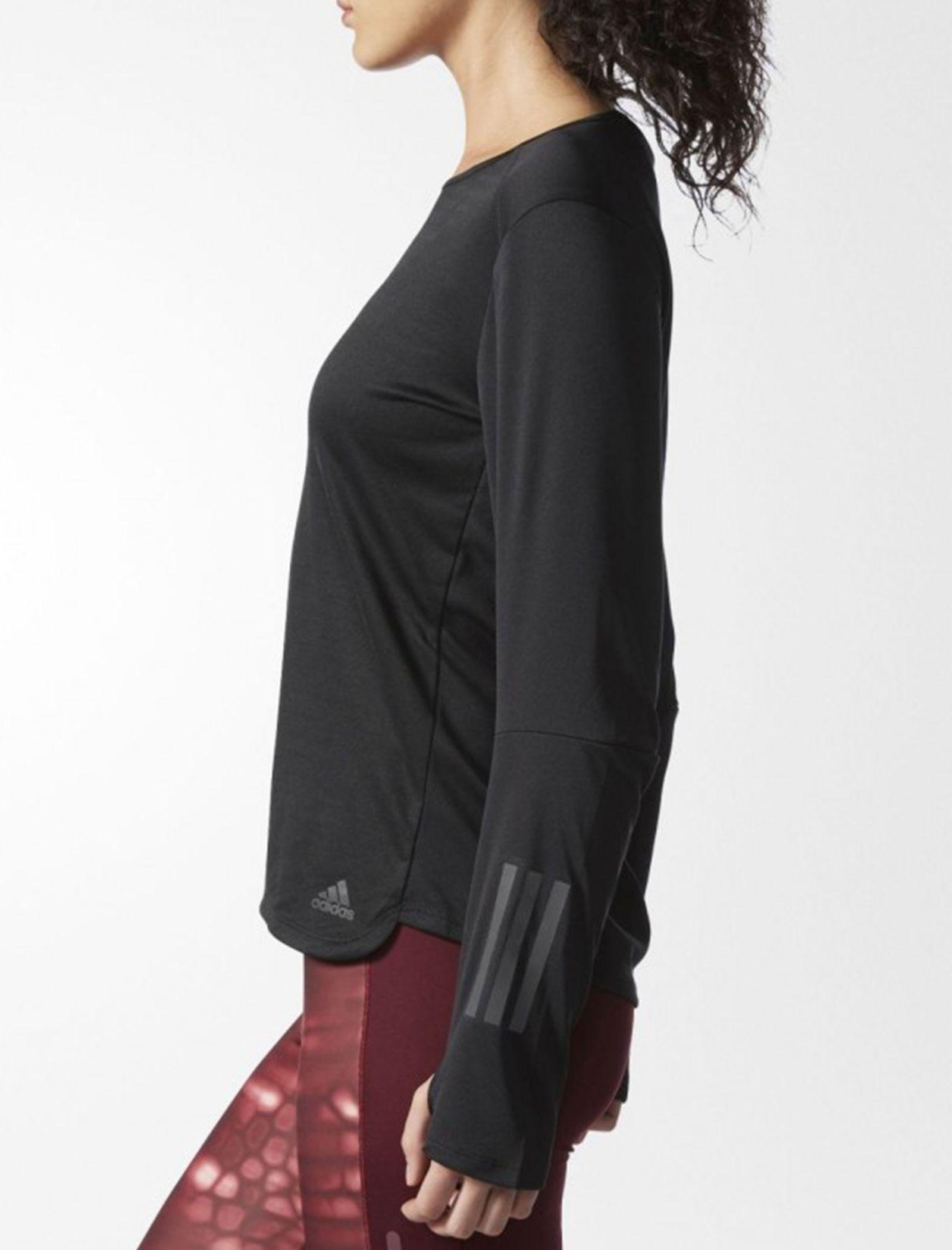 تی شرت ورزشی آستین بلند زنانه Response - آدیداس - مشکي - 4